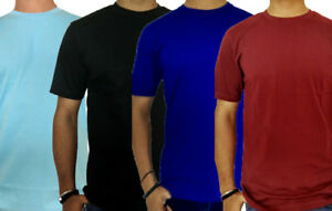 Mens Fitted Short Sleeve Crew Neck Training T-Shirt Dry Athletic Pack of 4pcs