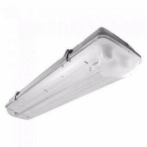 Twin T8 LED 22W Low Energy Weatherproof Fitting with t8 58w equivalent output