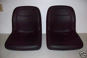TWO 2 HIGH BACK BLACK SEATS FOR ARCTIC CAT PROWLER REPLACES OEM# 1506 925 #MM