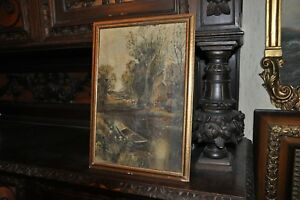 Antique Painting oil on canvas $295.00