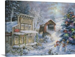 Country Shopping Canvas Wall Art Print Christmas Home Decor