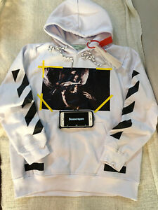 Off White co Virgil Abloh Angel Wing hoodie White Size US Small