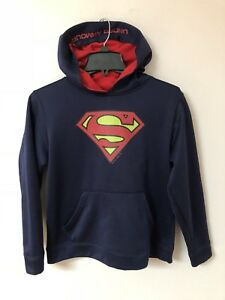 Under Armour Storm Loose Superman Hoodie Boys Youth Size L
