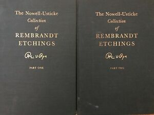 1967 THE NOWELL USTICKE COLLECTION OF REMBRANDT ETCHINGS PART 1 AND 2 BOOK $85.00