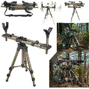 Crossbow Rifle Tripod Shooting Hunting Rest Bench Stick Field Pod Adjustable NEW