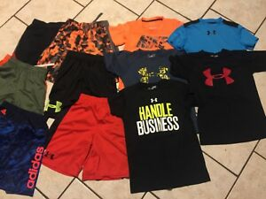 LOT BOYS UNDER ARMOUR SHIRTS TOPS SHORTS SMALL YSM