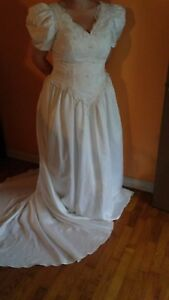 Wedding Dress 1214 White back zip