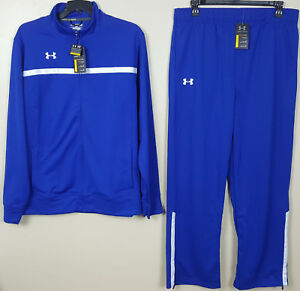 UNDER ARMOUR BASKETBALL WARM UP SUIT JACKET+PANTS ROYAL BLUE NEW (SIZE 2XL  XL)