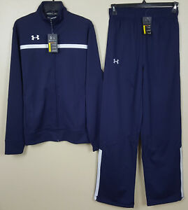 UNDER ARMOUR BASKETBALL WARM UP SUIT JACKET + PANTS NAVY BLUE NEW (SIZE MEDIUM)