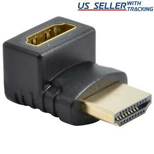 HDMI Male to Female Right Angle Connector Adapter 270 Degree Extender 1080P HDTV