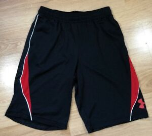 UNDER ARMOUR Shorts Youth Large YLG Loose Red And Black $16.99