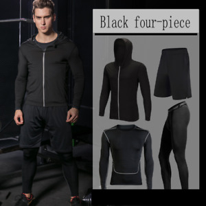 Men's Fitness Wear Sports Run All Seasons Fitness Quick-drying Clothe Four-piece