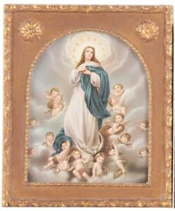VINTAGE CHROMOLITHOGRAPH PRINT OF THE BLESSED MARY MOTHER OF JESUS $100.00