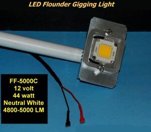 SAVE $$ - Ready to Use Giggin Light  44W Underwater LED Flounder Light  5000LM
