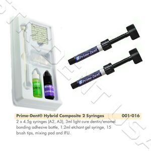 Prime Dent Light Cure Hybrid Composite Kit A2 and A3 with Bonding  001-016