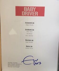 Baby Driver Edgar Wright Hand signed Script Page $80.00