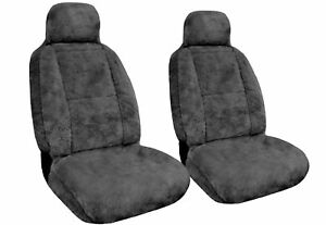 Genuine Sheepskin Pelt Car Seat Covers Pair Universal Fit Soft - Warm For Winter