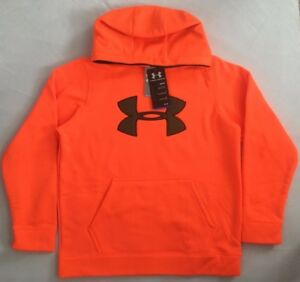 NWT Boy's Youth Under Armour Fleece Big Logo Hoodie Large 1249748 MSRP $60