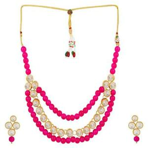 DESIGNER KUNDAN JEWELRY SET TRADITIONAL PARTY WEAR NECKLACE FOR WOMEN
