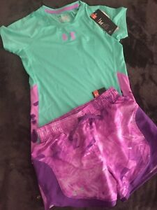 Under Armour Kids Youth Medium Loose Shorts And Shirt NWT