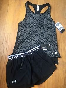 Under Armour Kids Youth Medium Shortest Loose Tank Top &Shorts NWT Free Shipping