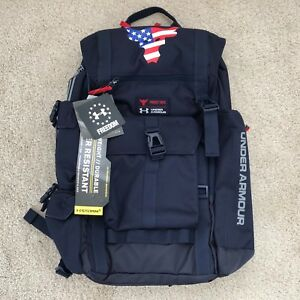 NEW Under Armour x Project Rock Freedom Regiment Backpack Dwayne Johnson