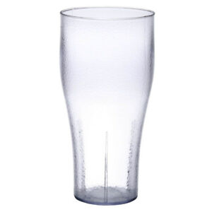 Bell 24 oz. Clear Plastic Stackable Soda Glass - 72Case NEW