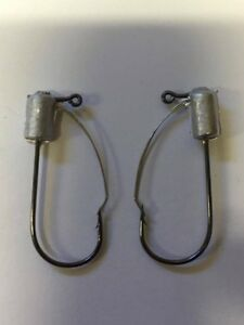50 pack weedless tube bass fishing hook built with mustad 30 32746 bln hooks