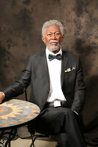 Life Size Morgan Freeman Black Movie Star Statue Realistic Prop Display 1:1