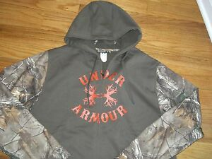 **WW**NWT**Under Armour**Mens**REAL TREE XTRA BROWN**Camo Zip Front Hoodie*3XL