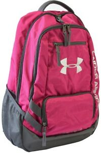 Pink and Gray Girls Under Armour Hustle II Backpack Back to School Supplies