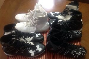 Lot 4 Pair Under Armour Highlight Lux MC Football Cleats Size 10.5 9.5 FS Soccer