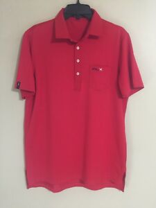 Polo Ralph Lauren RLX Sport Athletic Red Golf SS Polo Shirt - Men's Medium M