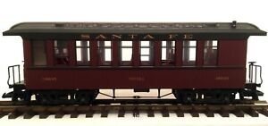 G-scale Train Garden Railway: LGB 38805 Santa Fe Topeka Passenger Coach Car ATSF