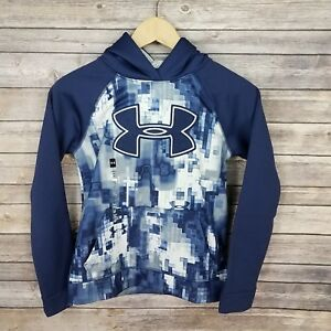 Under Armour Boys M 10-12 Storm 1 Hoodie Sweatshirt Blue NWT Flaw
