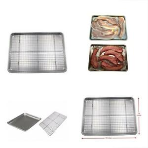 Checkered Chef Half Sheet Pan & Rack Set Aluminium Cookie Baking Tray New