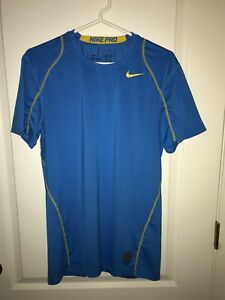 Nike Pro Dry Fit Fitted Athletic Shirt Blue. Mens Size M