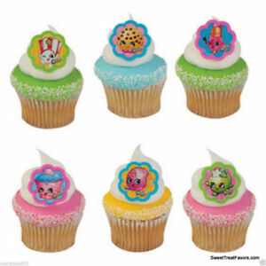 Shopkins Food CupCake Cake Topper 18 24 Decoration Birthday Grocery Toys Party *