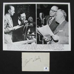 AMOS n ANDY signed piece with photo amp; 2 COA FREEMAN GOSDEN amp; CHARLES CORRELL $195.00
