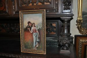 Lovely Antique Painting of 2 Lovers $300.00
