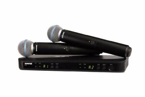 SHURE wireless microphone BLX dual channel handheld type wireless system BETA 58