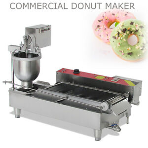 7L Electric Automatic Donut Ball Doughnuts Machine Maker Fryer with 3 Molds 6KW