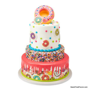 DONUTS Cake Decoration Party TOPPER Supplies Shop Confetti Food Cupcake Birthday