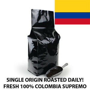2, 5, 10 lb Colombia Supremo Coffee Roasted Fresh Daily in the USA !