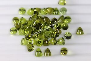 Peridot Bullet Shape Loose Gemstone Special For Making Jewelry Smooth Peridot