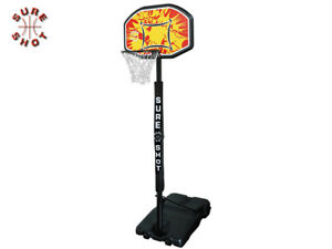 BRAND NEW SURE SHOT - ADJUSTABLE BASKETBALL STAND PADDED POLE & COLOURED BOARD