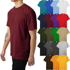Mens HEAVY WEIGHT T Shirts SUPERMAX Plain Tee BIG AND TALL 5XL Solid Crew Neck $15.69