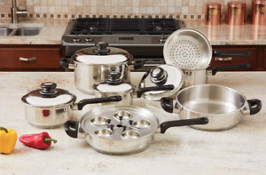 High Quality Heavy Duty 17 Piece Stainless Steel Cookware Set