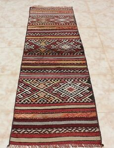 KILIM RUNNER RUG 1.5x5.5 TURKISH KILIM RUNNER RUG 20