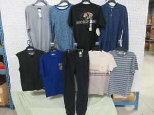 9 SHIRTS LONG SLEEVE BUTTON PANTS DRI-FIT PULLOVER OUTFIT CLOTHING LOT MD MEDIUM